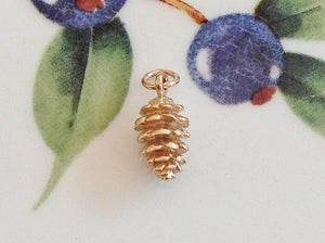 Gold Pine Cone Charm