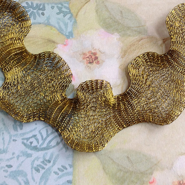 Titanium Mesh Ribbon, Golden Olivine, 1 Meter Length