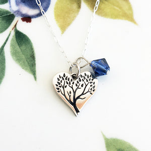 Heart Tree of Life Necklace - Specialty Beads