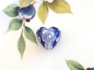Tanzanite Floral Handmade Bead - Specialty Beads