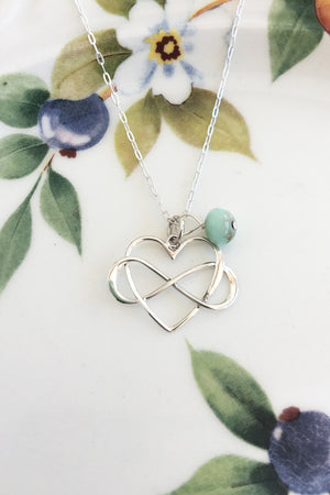 Infinity Heart Necklace - Specialty Beads
