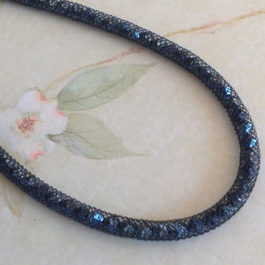 Midnight Sparkle Crystal Mesh Necklace