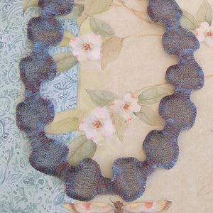 Titanium Mesh Ribbon, Misty Blue Mauve, 5 Meter Spools - Specialty Beads