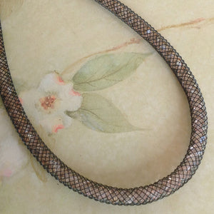 Pale Pink Lace Crystal Mesh Necklace - Specialty Beads