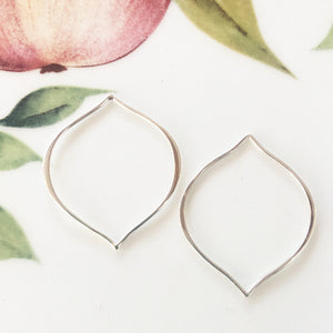 Sterling Silver Earring Findings - Petal Shape - Specialty Beads