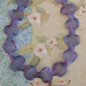 Titanium Mesh Ribbon, Purple Blue Peacock, 1 Meter Length - Specialty Beads