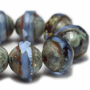 Light Sapphire Saturn Czech Beads - Specialty Beads