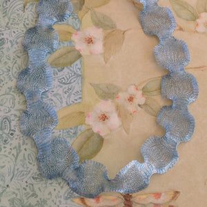 Titanium Mesh Ribbon, Shimmering Blue, 5 Meter Spools - Specialty Beads