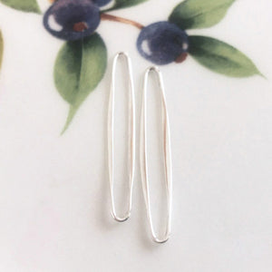 Sterling Silver Earring Findings - Thin Oval Shape - Specialty Beads