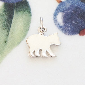 Silver Baby Bear Charm