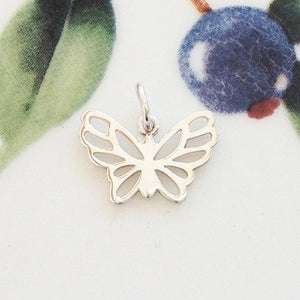 Silver Butterfly Charm - Specialty Beads
