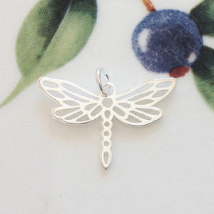 Silver Dragonfly Charm - Specialty Beads