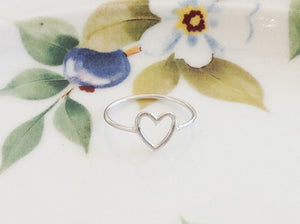 Silver Heart Ring - Specialty Beads