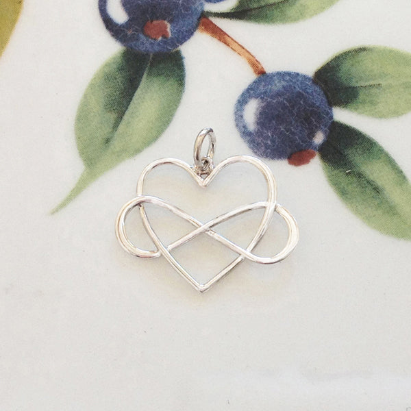 Silver Infinity Heart Charm