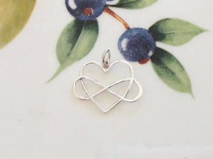 Silver Infinity Heart Charm - Specialty Beads