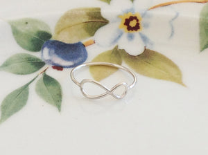 Silver Infinity Ring - Specialty Beads