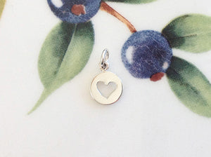 Silver Tiny Heart Charm - Specialty Beads