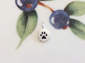 Silver Tiny Paw Print Charm - Specialty Beads