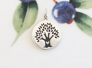 Silver Tree with Heart Pendant