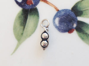 Silver Two Peas in a Pod Charm - Specialty Beads