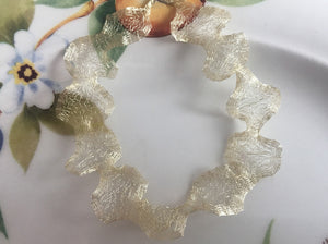 Italian Mesh Ribbon, Soft Gold, 1 Yard Length - Specialty Beads
