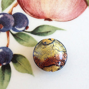 Brilliant Swirl Venetian Disc Bead, Bluino Ametista, 16mm