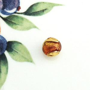 Brilliant Swirl Venetian Round Bead, Carmello, 10mm