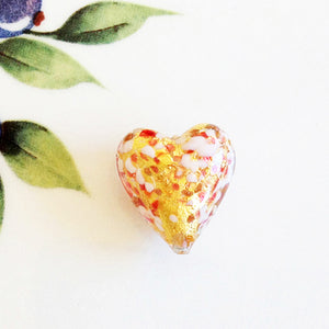 Sparkle Venetian Heart Bead, Pink, 20mm - Specialty Beads