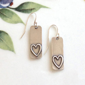 Sterling Silver Heart Earrings - Specialty Beads