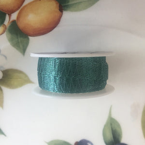 "Italian Mesh Ribbon, Teal, 100"" Spool or 5 Yard Spool"