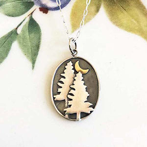 Pine Trees & Moonlight Necklace