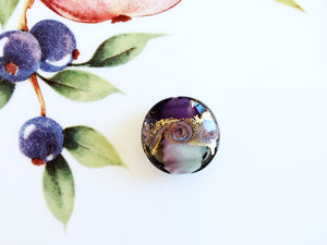 Lovely Swirl Venetian Disc Bead, Purple, 20mm - Specialty Beads