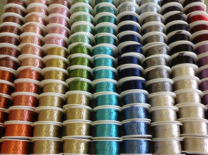 "Italian Mesh Ribbon, Five 100"" Spools of 6mm Mesh at a Discounted Price - Specialty Beads"
