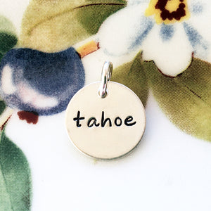 Silver Hand Stamped Tahoe Charm - Specialty Beads