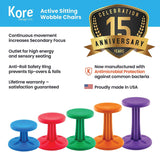 "Kore Design KOR602 Pre-Teen Active Chair Height 18.7"", Orange"