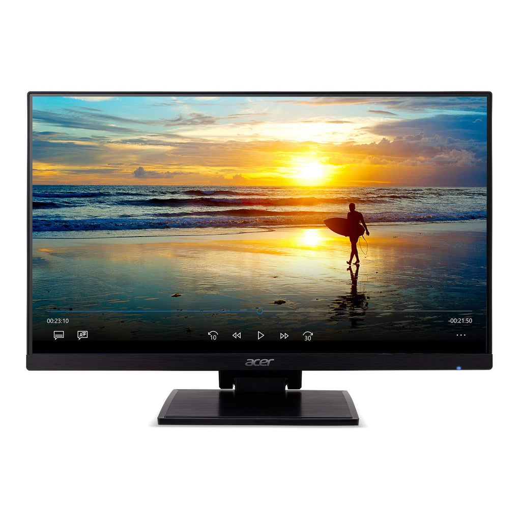 """Acer UT241Y bmiuzx 23 8"""" Full HD (1920 x 1080) Zero Frame IPS Touchscreen  Monitor with Dual-Hinge Tiltable Stand (USB 3 1 Type-C, HDMI & VGA Ports)"""