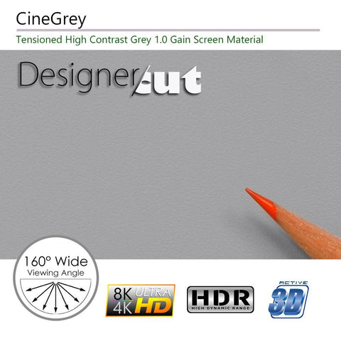 Elite Screens Designer Cut Series, 135-Inch Diag. 16:9, Pre-Cut DIY Projector Screen Material, Model: ZRM-135HW-