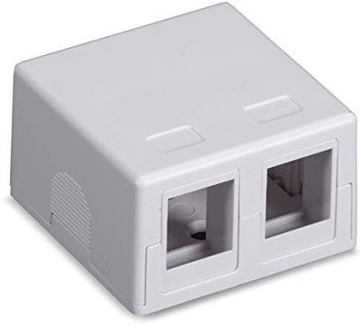 2PORT WHITE SURFACE MOUNT HOUSING VALUE LINE