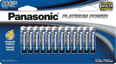 Panasonic Energy Corporation LR03XP/24B Panasonic LR03XP/24B Platinum Power AAA Alkaline Batteries, 24 Pack