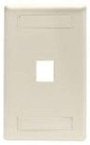 BLACK BOX NETWORK SRV - GigaStation2 Wallplate, 1-Port Single-Gang, White