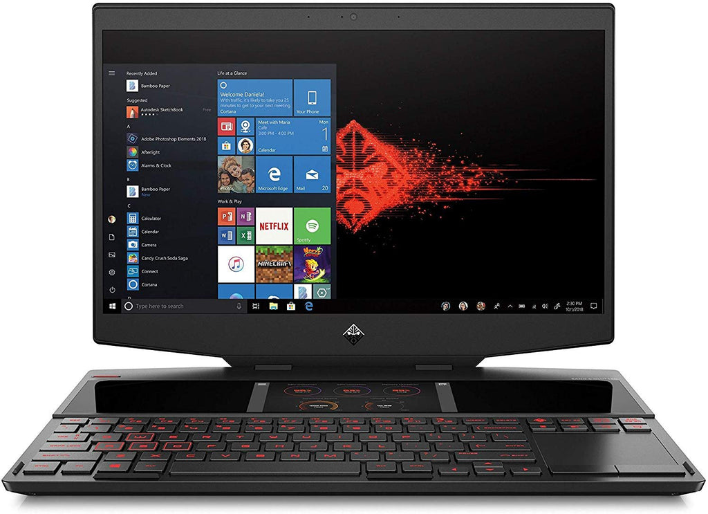 "HP 6UA82UA#ABA Omen 15-dg0010nr 15.6"" Gaming Laptop, Core i7-9750H, NVIDIA GeForce RTX 2070, 16GB, 512GB SSD, Win 10 Home"