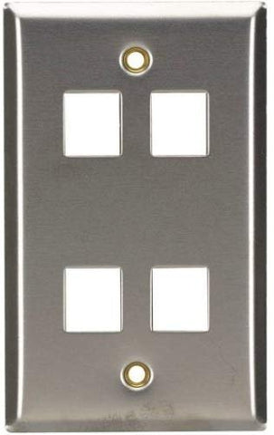 Stainless Steel Wallplate, Keystone, Sin