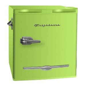 Frigidaire 1.6 Cu Ft Retro Compact Fridge with Side Bottle Opener - Olive