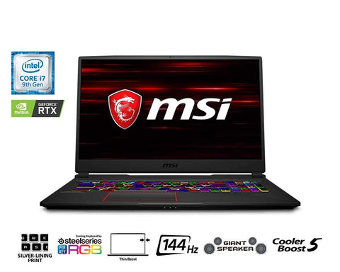 "MSI GE75 9SG-423CA Raider 17.3"" 144Hz 3ms Gaming Laptop Intel Core i7-9750H RTX2080 16GB 512GB NVMe SSD + 1TB Win10 VR Ready, Aluminum Black"