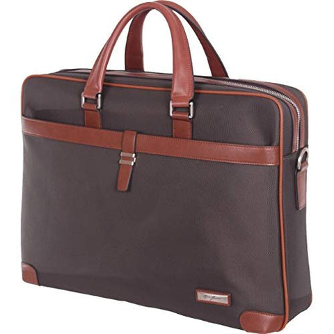 "GINO FERRARI Magma 16"" Laptop Bag, Gray and Tan, International Carry-on (Model: GFE020)"