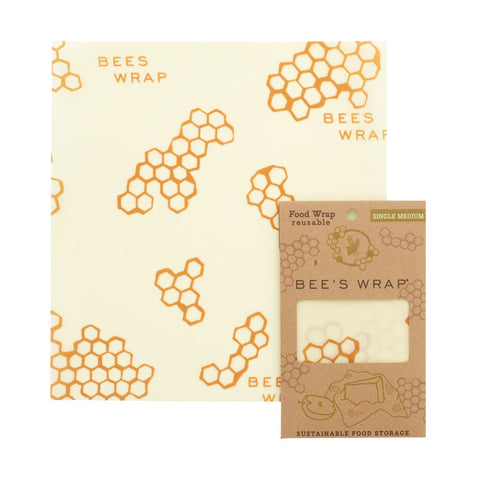Single Medium Wrap - Bee's Wrap - ZeroWasteSociety