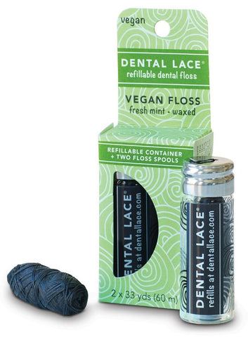 Vegan Refillable Dental Floss - Dental Lace - ZeroWasteSociety