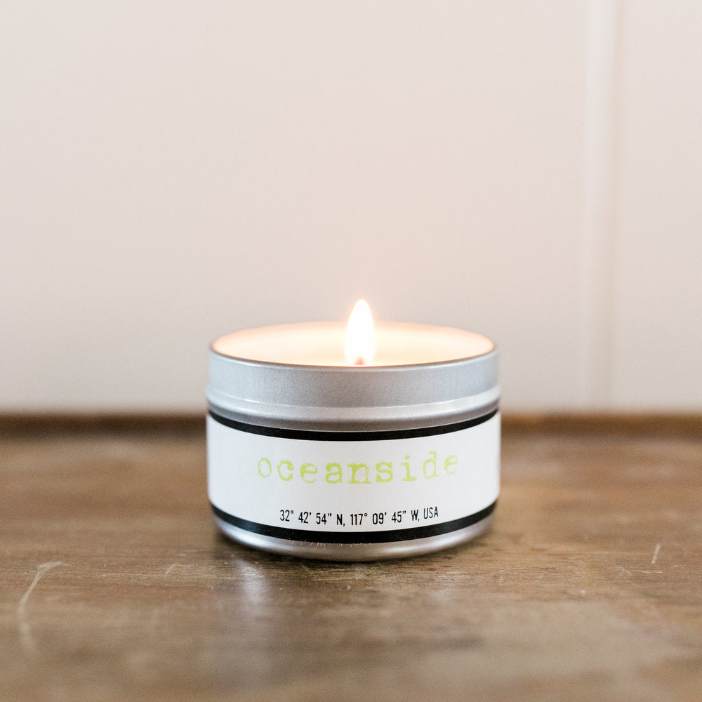 Oceanside Soy Candle - SoCal Candle Co. - ZeroWasteSociety