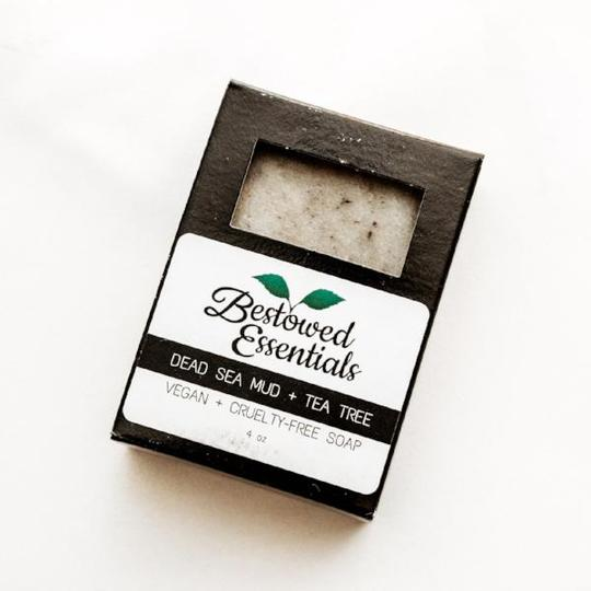 Dead Sea Mud + Tea Tree Soap - Bestowed Essentials - ZeroWasteSociety