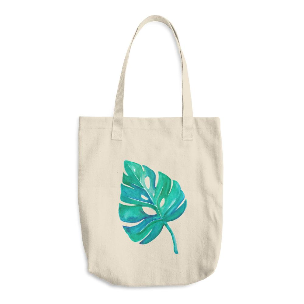 Tote Bag Monstera Leaf - Kimposed - ZeroWasteSociety
